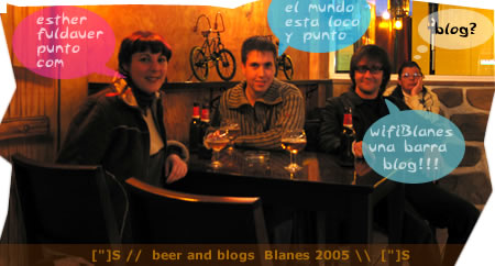 Blog and beers Blanes